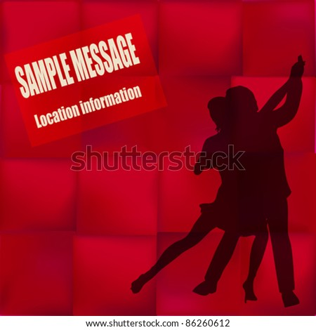 Ballroom Dance vector flyer, for an event or Dance School - stock vector