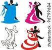 ballroom dancing - icon - stock vector