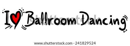 Ballroom dancing love - stock vector