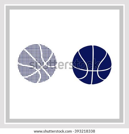 Balls of basketball Icon - stock vector