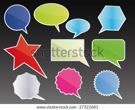 Baloon Comics Word and Thought Bubbles - stock vector