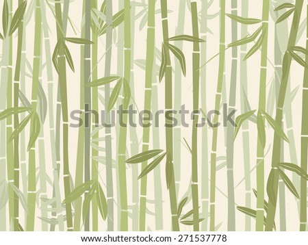 Bamboo forest background in green tones - stock vector