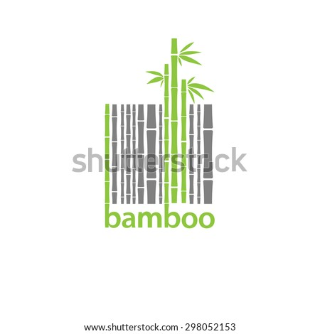Bamboo logo symbol  stylized as barcode