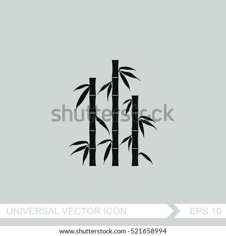 Bamboo silhouettes. Vector icon.