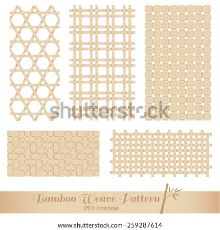 Bamboo Weave pattern - stock vector