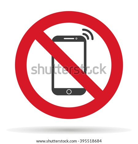 ban on phone mobile cell phone,  vector illustration - stock vector