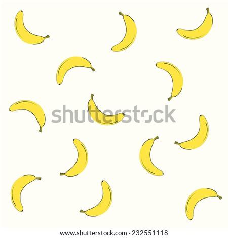 Banana background vector design. - stock vector