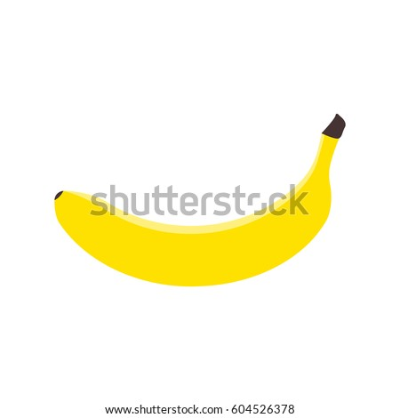 Banana fruit icon. Banana isolated on white background. Vector illustration.