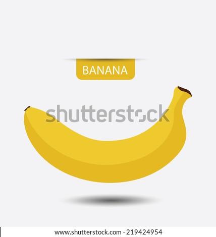 Banana, fruit vector illustration - stock vector