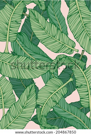 banana leaf vector/illustration - stock vector