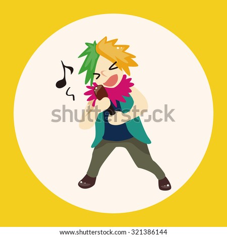 band member singer theme elements - stock vector