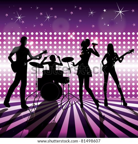 band on stage vector - stock vector