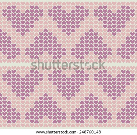 Band Pattern With Little Hearts - stock vector