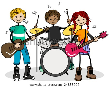 band vector stock photo photo vector illustration 24855202 rh shutterstock com big band music clipart Pop Music Clip Art