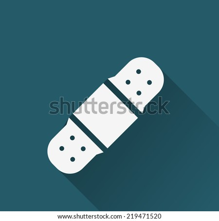 bandage icon - stock vector