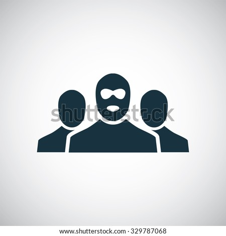 bandit group icon, on white background  - stock vector