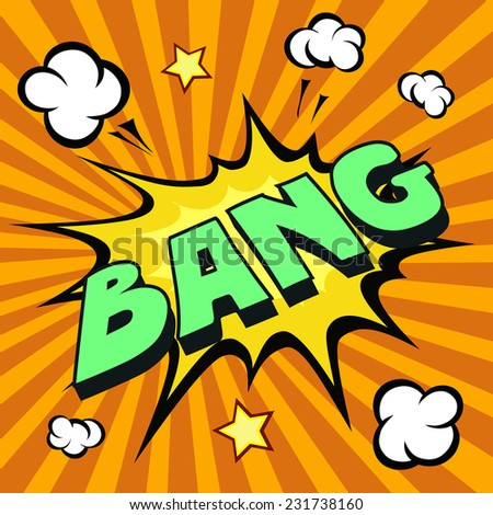 bang cartoon comic explosion colored vector - stock vector