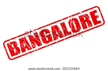 BANGALORE red stamp text on white - stock vector