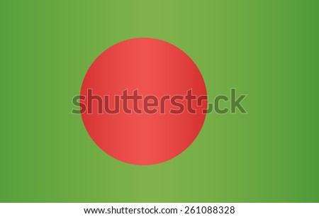 Bangladesh Flag - stock vector