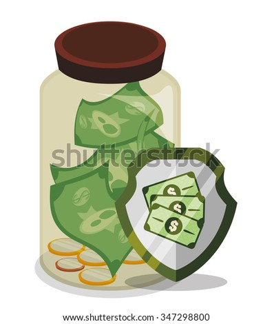 Bank and money savings graphic icons design, vector illustration eps10