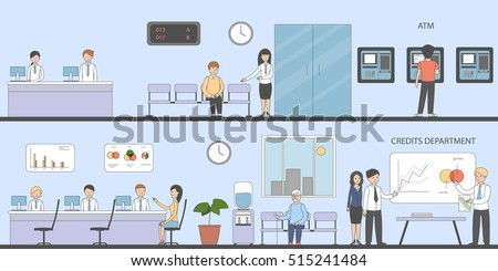 bank and office interior inside bank interior with reception consulting customer atm bank and office interiors