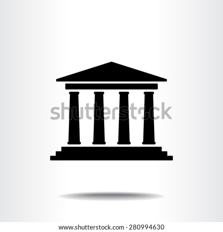 Bank building sign icons, vector illustration. Flat design style  - stock vector