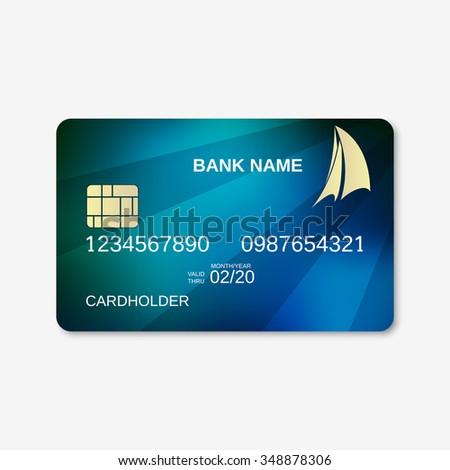 bank card credit card design template stock vector