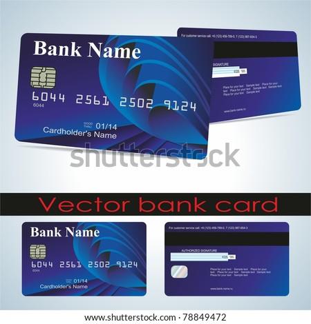 Bank card customer. Vector. - stock vector