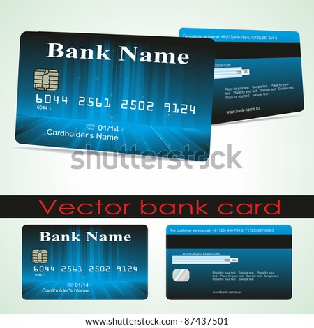 Bank card customer. Vector.