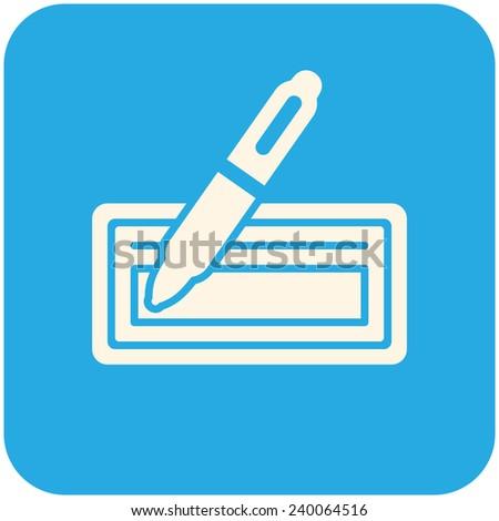 Bank Check Icon Flat Design Stock Vector 2018 240064516 Shutterstock
