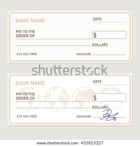 Blank Check Template Stock Images, Royalty-Free Images & Vectors