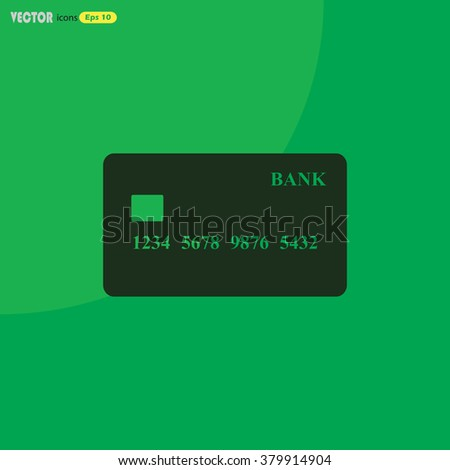 Bank credit card icon.