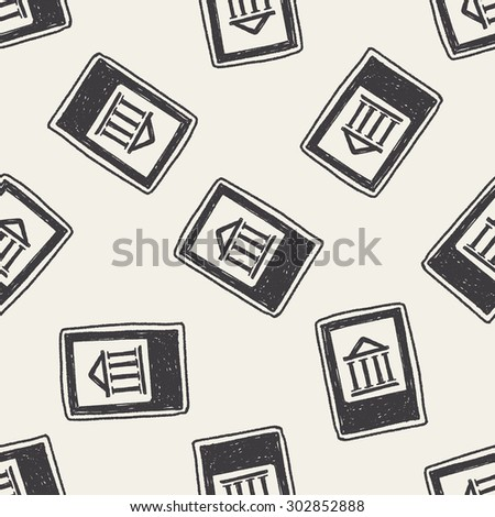 bank doodle seamless pattern background