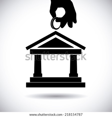 bank graphic design , vector illustration