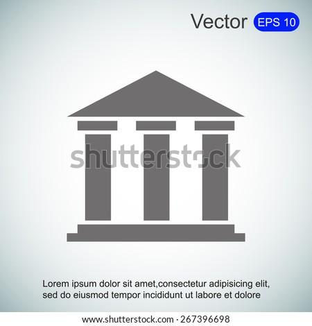 Bank icon - stock vector