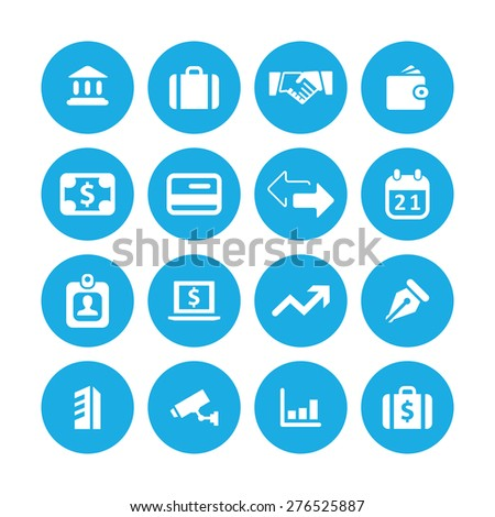 bank icons universal set for web and mobile