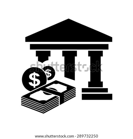 Bank icons vector. - stock vector