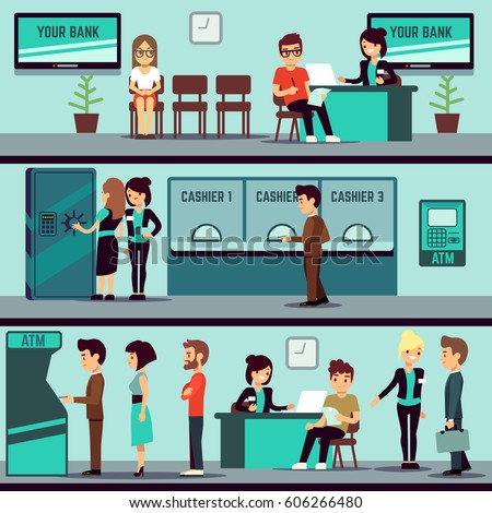 Bank interior stock images royalty free images vectors for Open bank oficinas