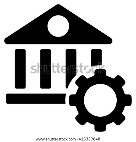 Bank Options vector icon. Style is flat icon symbol, black color, white background. - stock vector