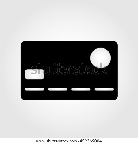 Bank plastic card. Vector Illustration. EPS 10. Black and white. Monochrome.