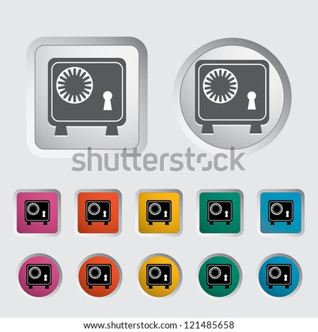 Bank safe icon. Vector illustration. - stock vector