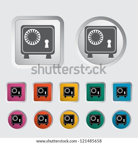 Bank safe icon. Vector illustration. - stock vector