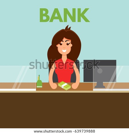 Bank Teller Stock Images RoyaltyFree Images Vectors