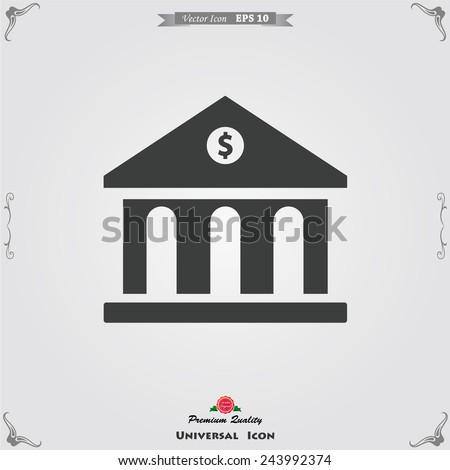 bank vector icon - stock vector