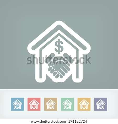 Banking agreement icon - stock vector