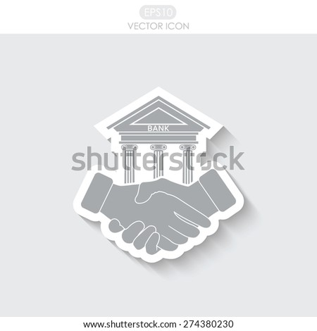 Banking agreement vector icon. - stock vector