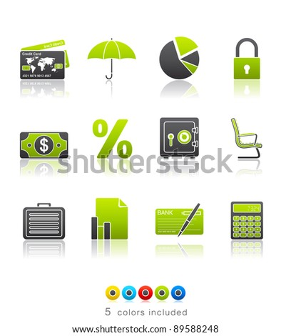 Banking and Finance icon set 16 - Multi Color Series.  Icon set in EPS 8 format with high resolution JPEG EPS file contains five color variations in different layers