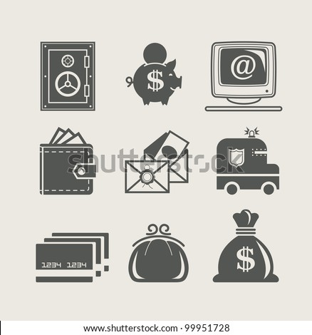 banking and finance set icon vector illustration - stock vector