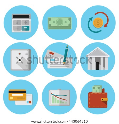 banking-elements-flat-vector