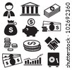 banking icons - stock photo